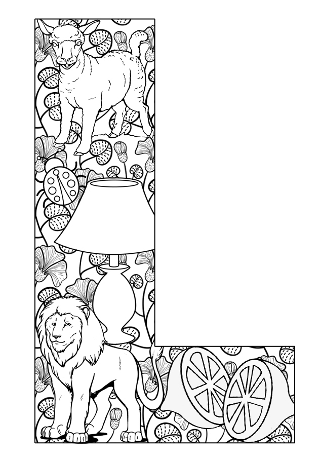 coloring letter l objects letter l love coloring pages for preschoolers l coloring objects letter
