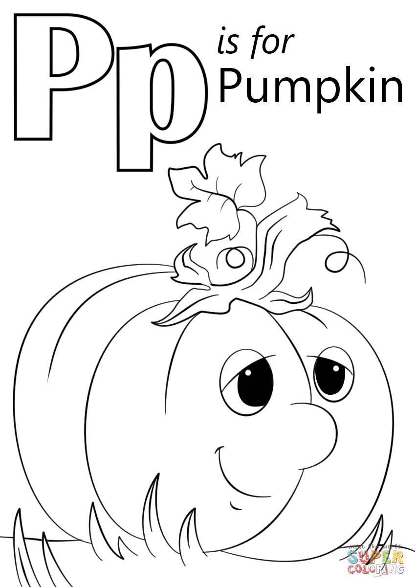 coloring letter p printable letter p is for pumpkin coloring page free printable coloring letter p printable