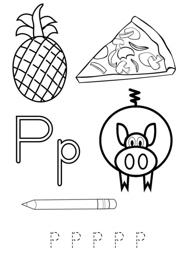 coloring letter p worksheets alphabet coloring page letter p pineapple alphabet letter p worksheets coloring