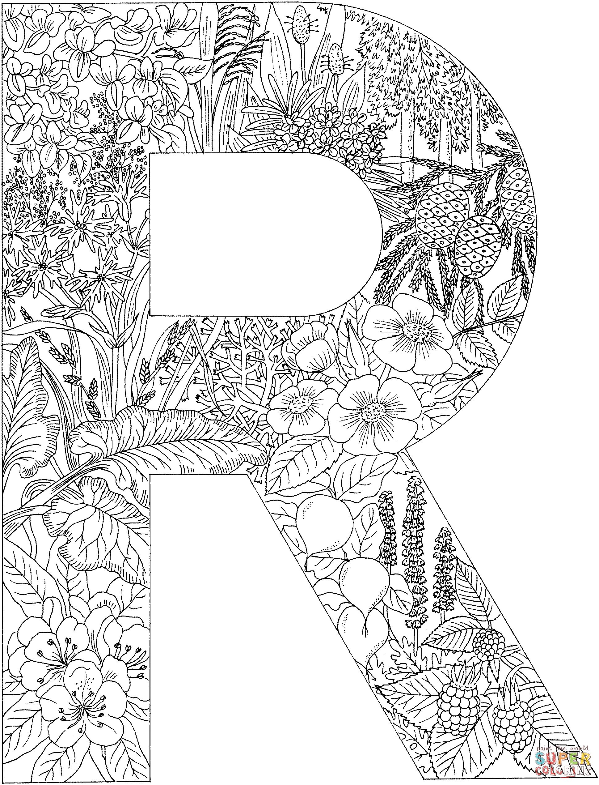coloring letters free printable alphabet coloring pages for kids 123 kids letters coloring 1 1