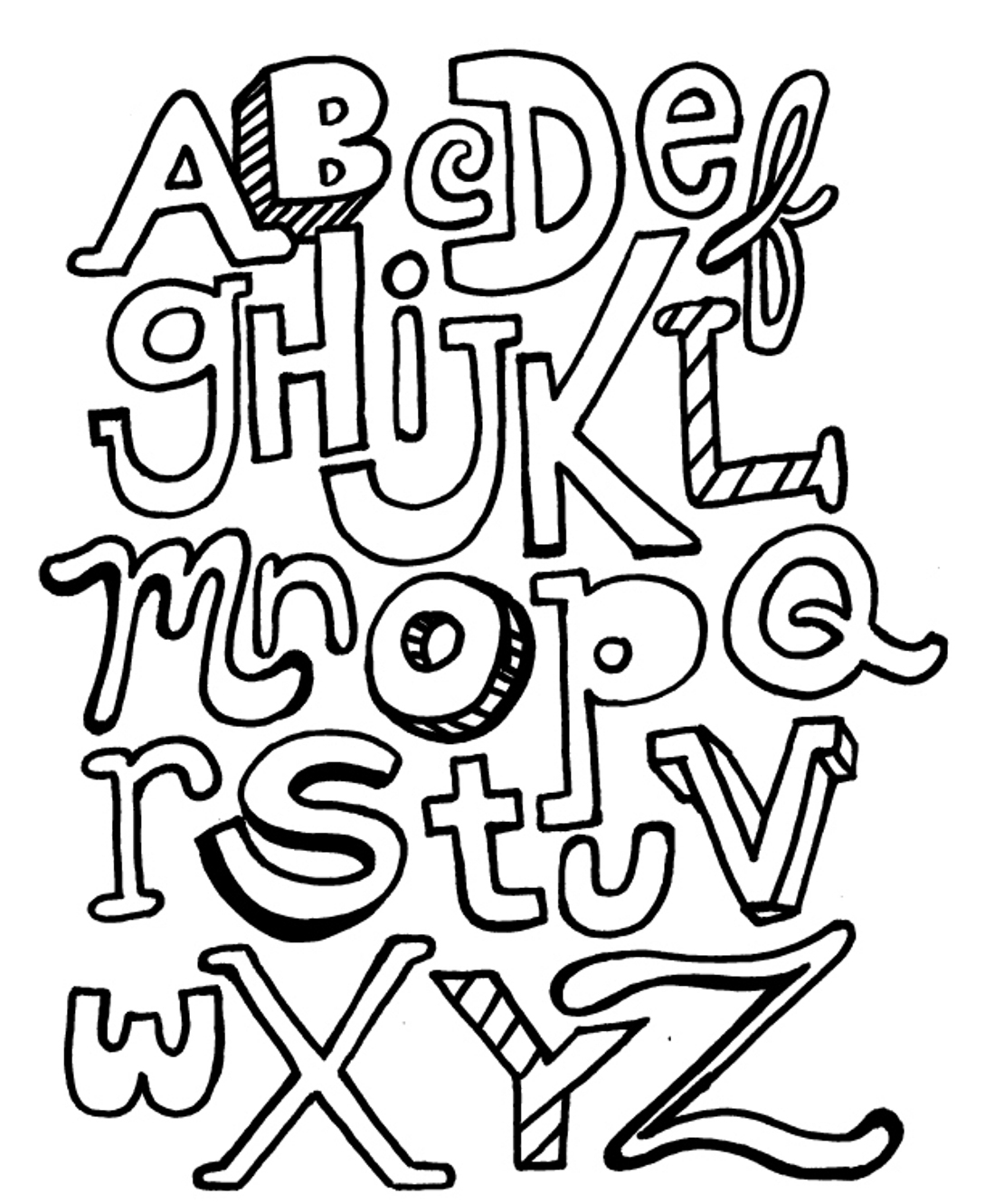 coloring letters funny alphabet coloring pages for kids letters printables coloring letters