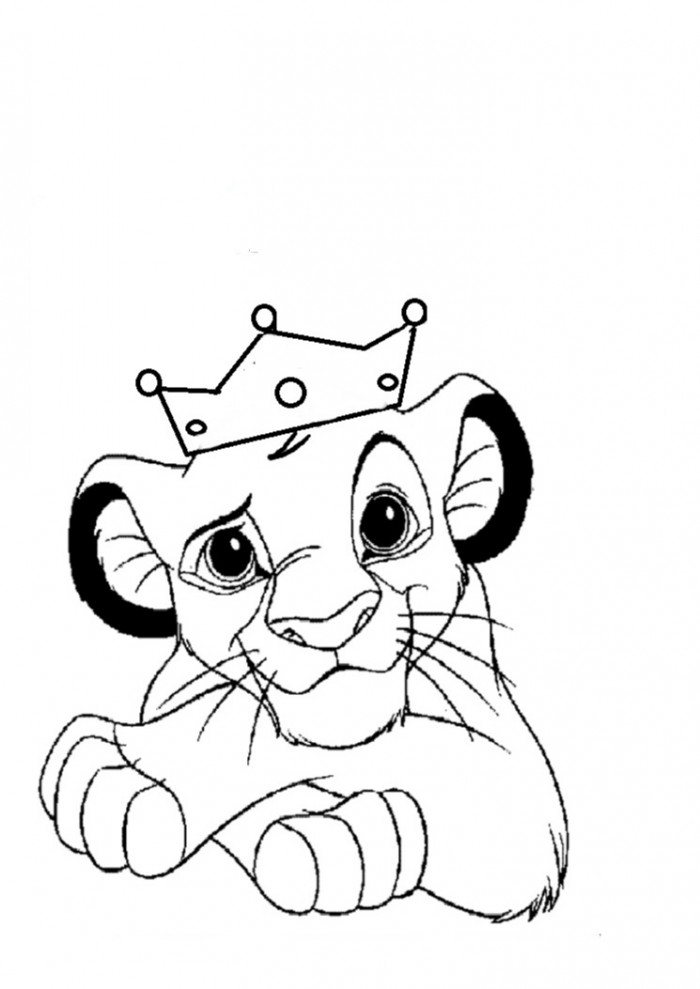 coloring lion king simba lion king simba coloring pages at getdrawings free download king simba lion coloring