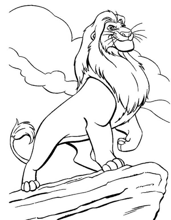 coloring lion king simba simba coloring pages to download and print for free simba king coloring lion