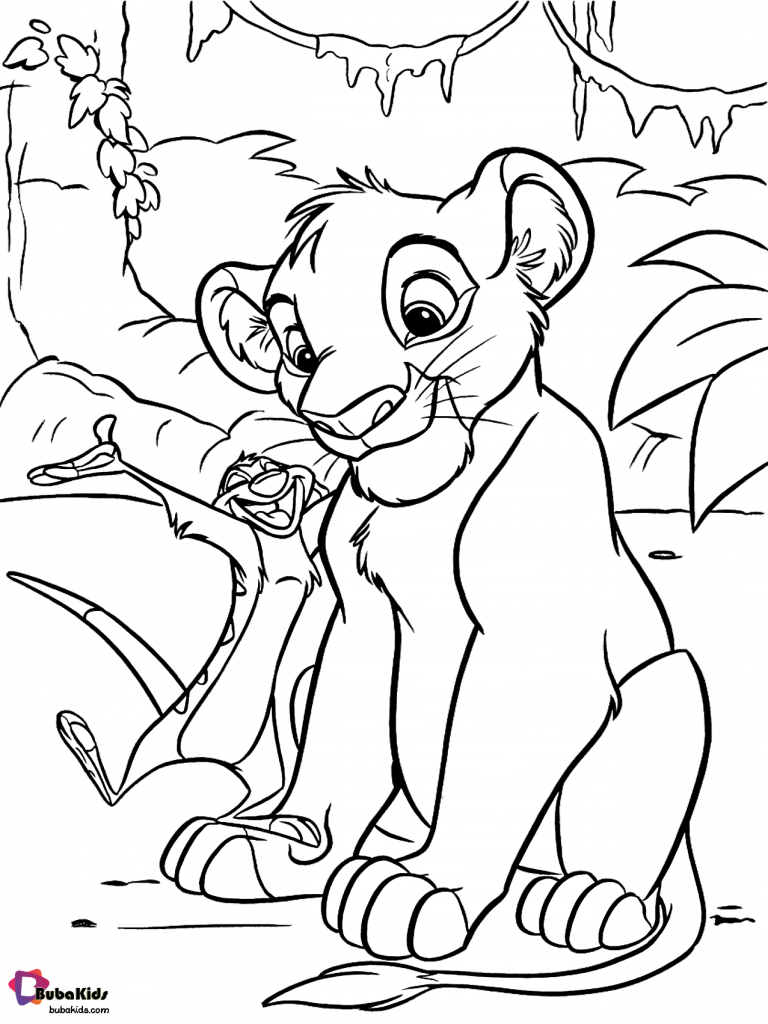 coloring lion king simba the lion king simba drawing free download on clipartmag simba lion king coloring