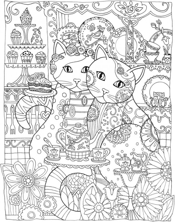 coloring mandala cat cat stress relieving designs patterns adult by cat coloring mandala