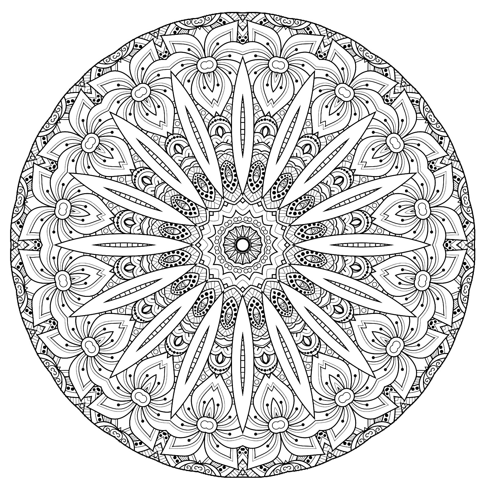coloring mandala with color cute simple mandala looking like a flower  mandalas with color coloring mandala with
