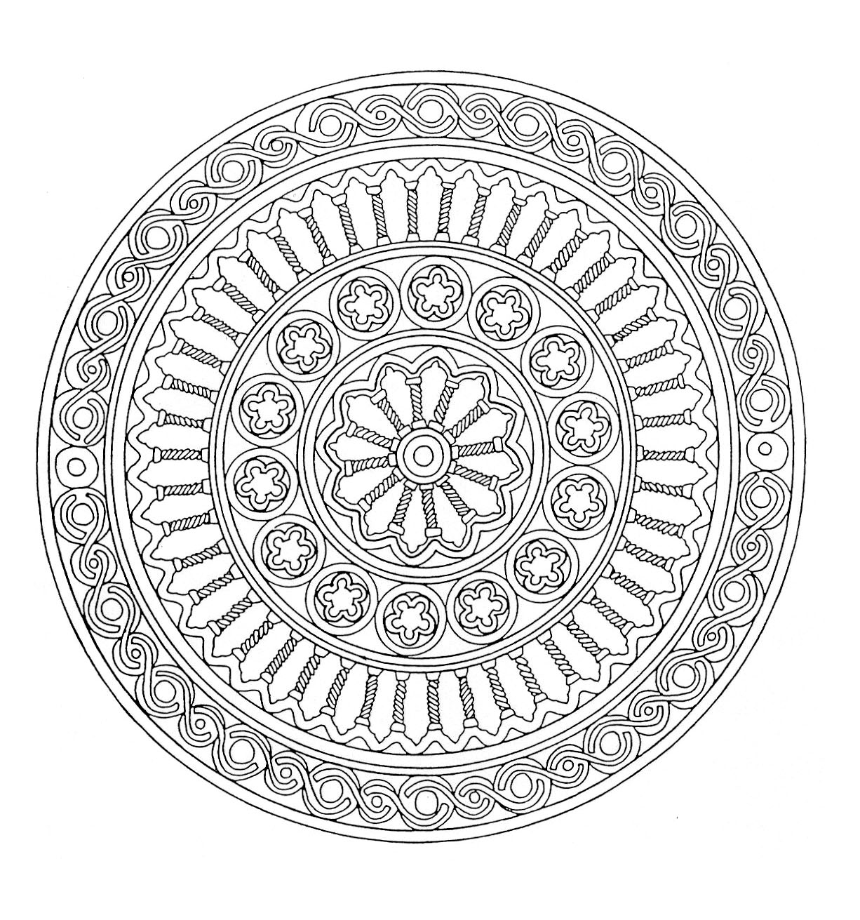 coloring mandala with color mandala 1  malas adult coloring pages mandala color coloring with