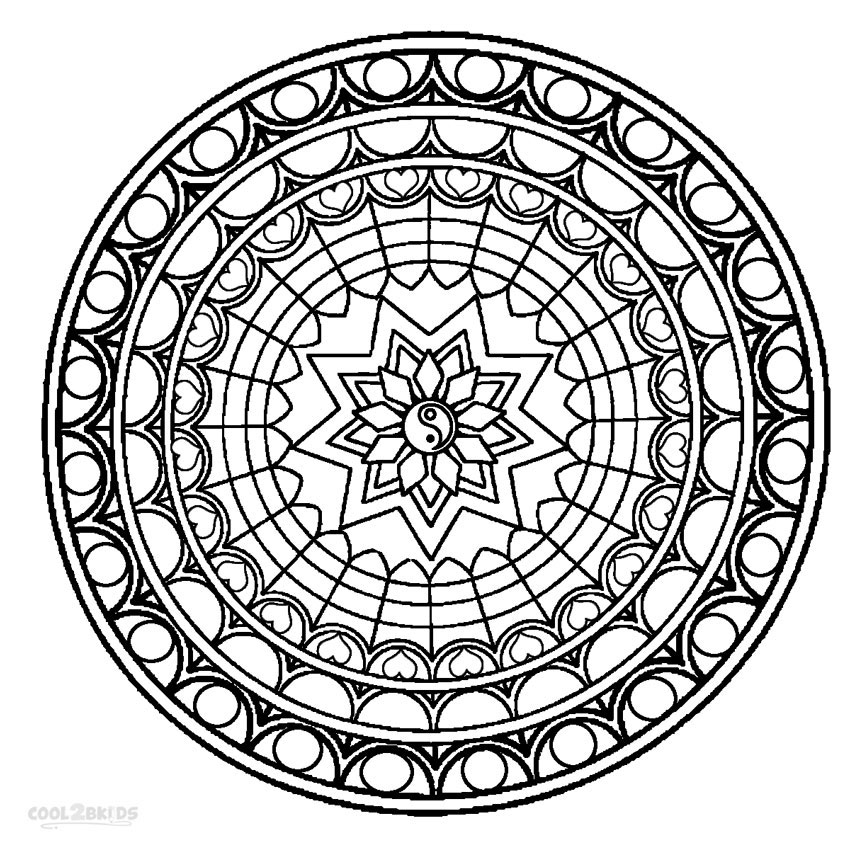 coloring mandala with color printable mandala coloring pages for kids cool2bkids coloring mandala with color