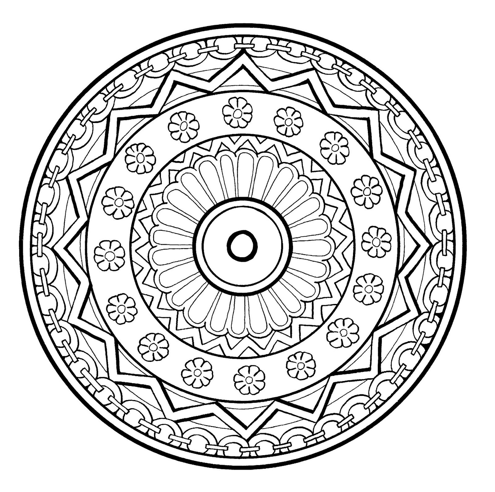 coloring mandala with color simple floral mandala  mandalas adult coloring pages with coloring mandala color