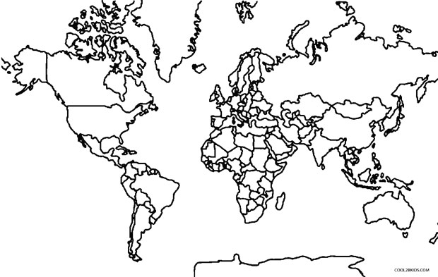 coloring map of the world free printable world map coloring pages for kids best coloring world the of map