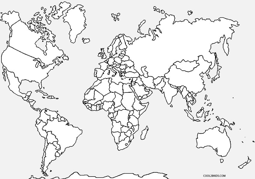 coloring map of the world free printable world map coloring pages for kids best map coloring world of the
