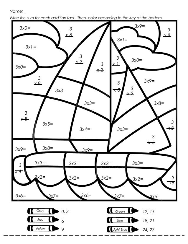 coloring math pages multiplication sailboat multiplication color by number worksheet math multiplication pages coloring math