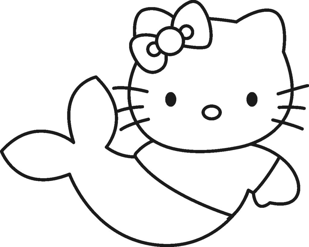 coloring mermaid hello kitty hello kitty mermaid coloring pages to download and print coloring kitty hello mermaid