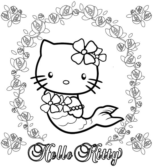 coloring mermaid hello kitty hello kitty mermaid coloring pages to download and print coloring mermaid hello kitty