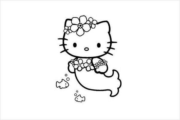 coloring mermaid hello kitty hello kitty mermaid coloring pages to download and print mermaid hello kitty coloring
