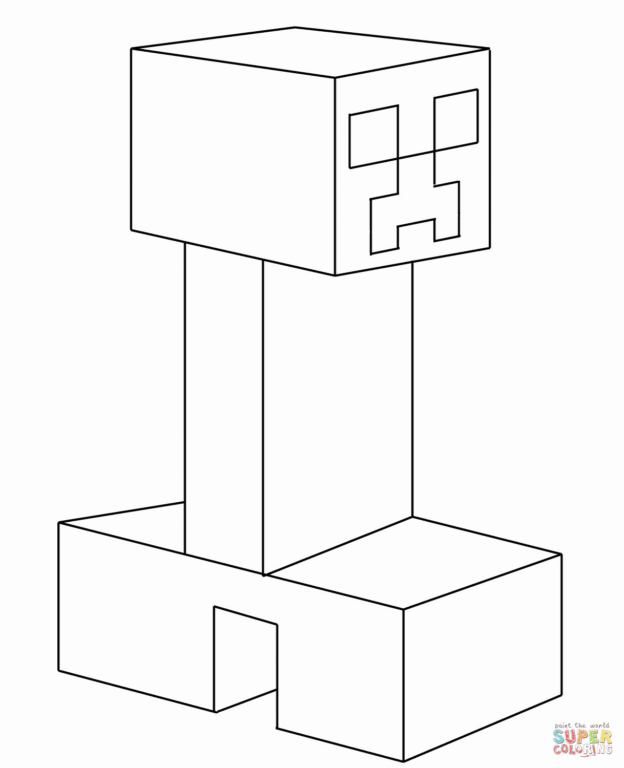 coloring minecraft creeper creeper from minecraft coloring page free coloring pages minecraft coloring creeper