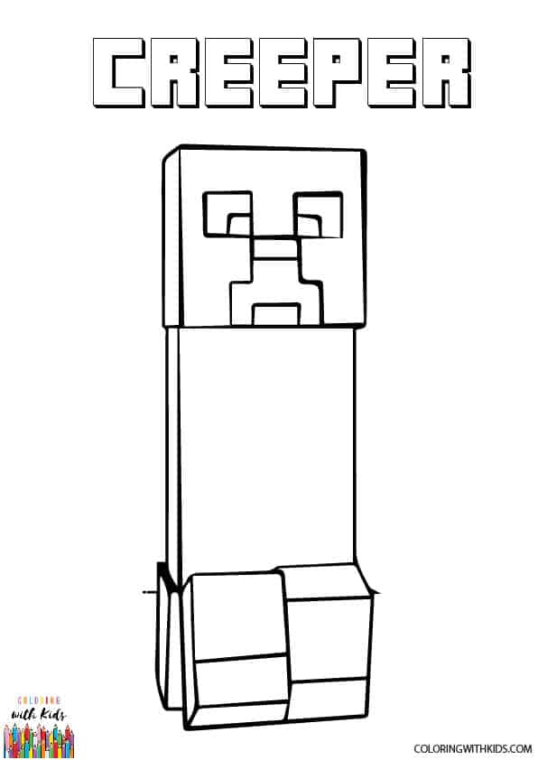 coloring minecraft creeper creeper from minecraft of roblox coloring pages free coloring creeper minecraft