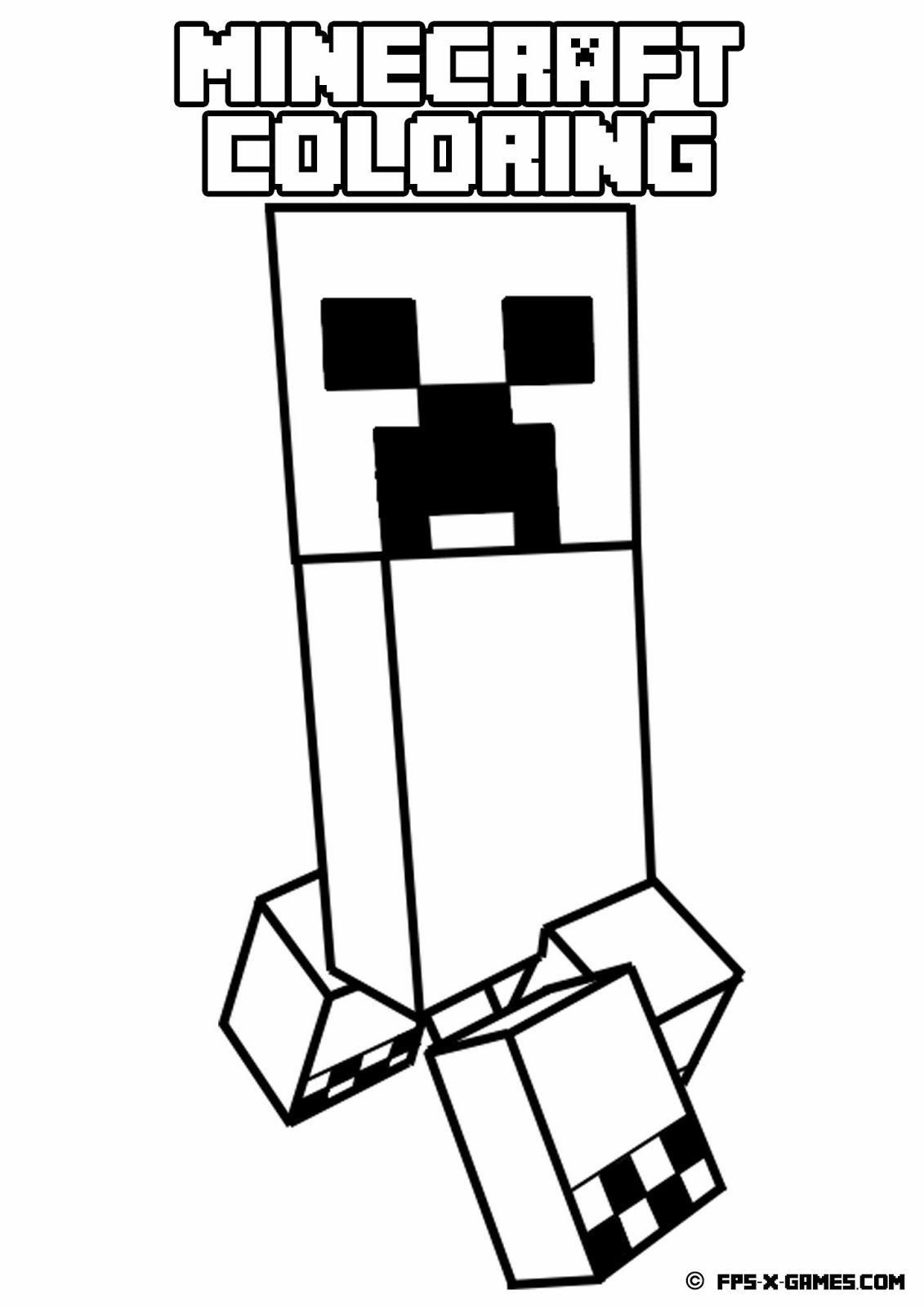 coloring minecraft creeper pin on best coloring pages books ideas creeper coloring minecraft