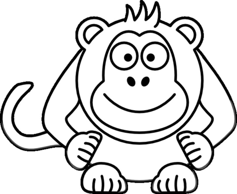 coloring monkey clipart best monkey outline 16597 clipartioncom monkey clipart coloring