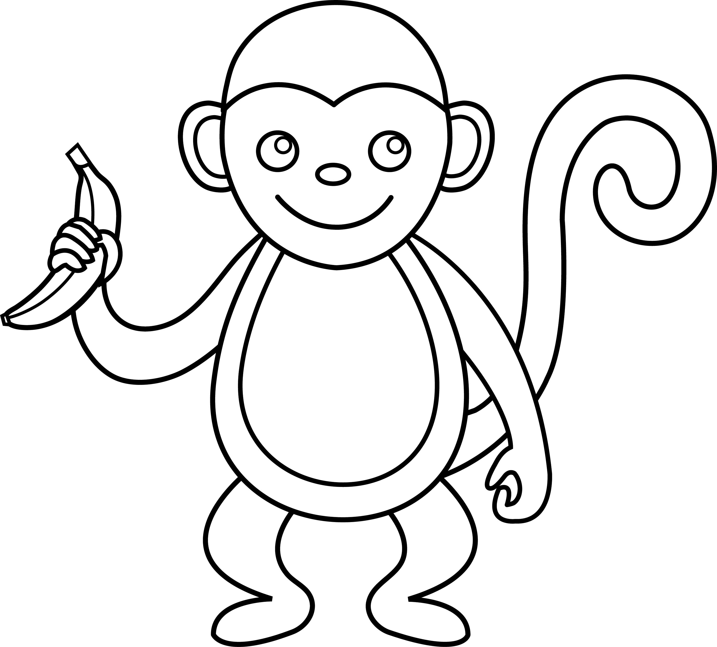 coloring monkey clipart monkey coloring pages free download on clipartmag clipart coloring monkey