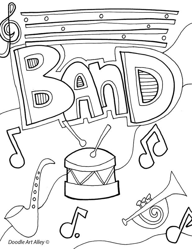 coloring music cover page music themed coloring pages at getcoloringscom free cover page music coloring