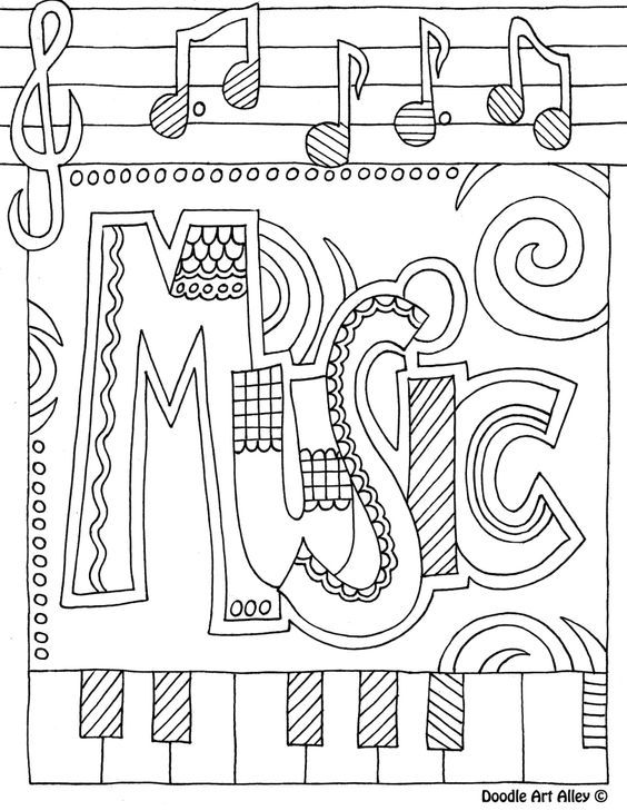 coloring music cover page printable coloring page zentangle music coloring book page cover music coloring