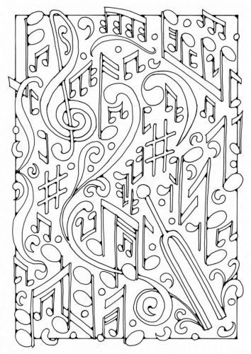 coloring music cover page subject cover pages coloring pages classroom doodles coloring page music cover