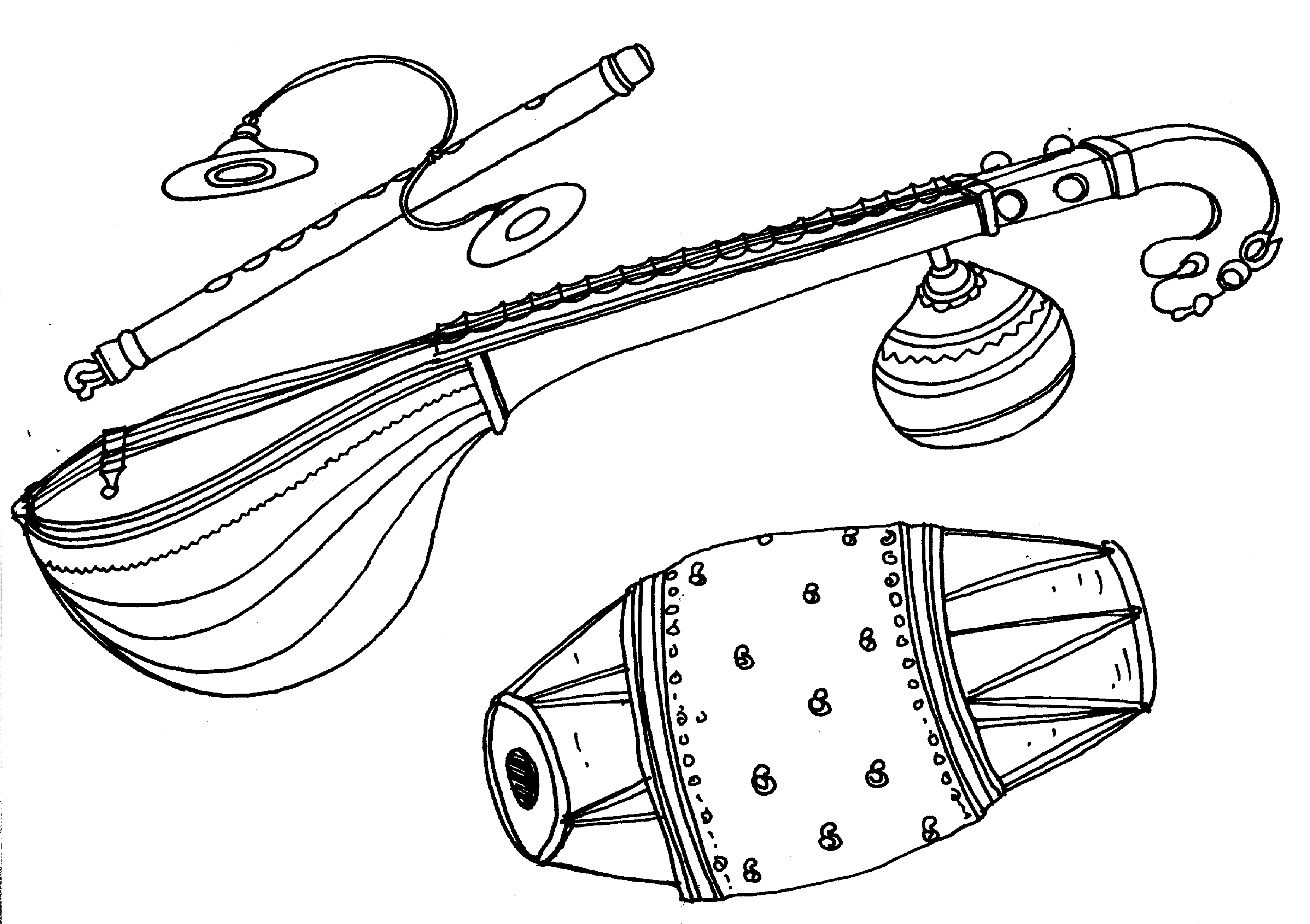 coloring musical instruments drawing how to draw musical instruments for kids world gitaar instruments coloring drawing musical