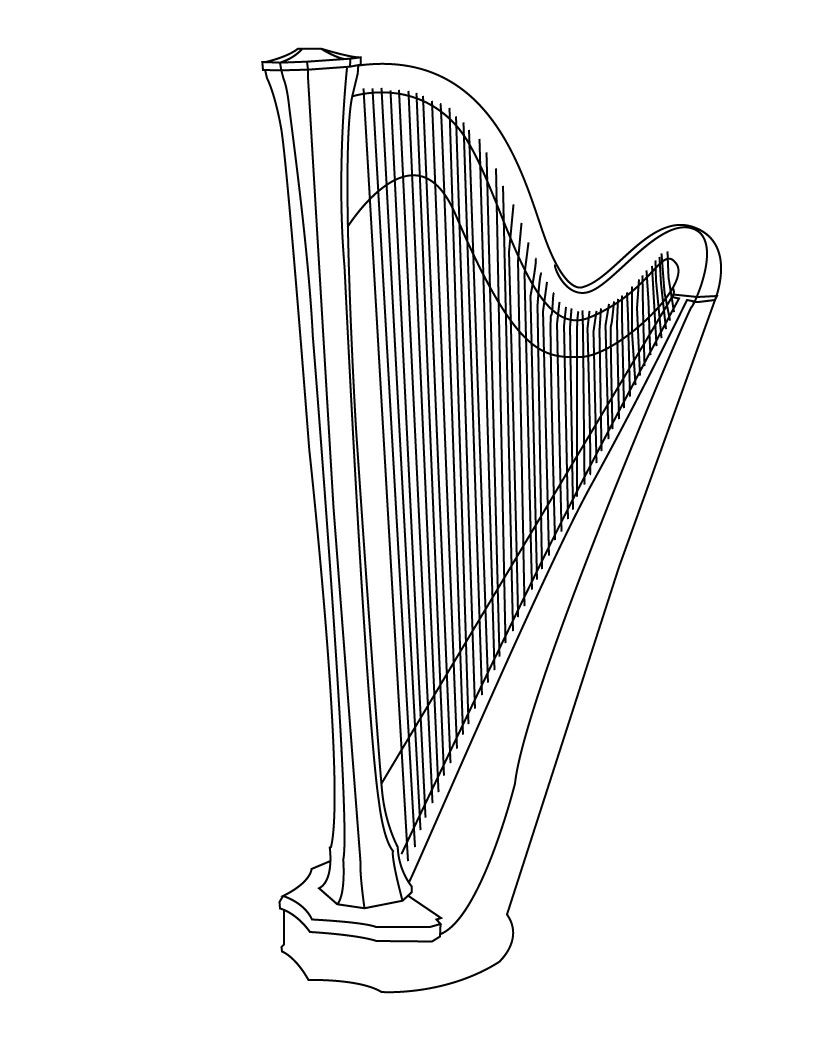 coloring musical instruments drawing music instrument coloring page getcoloringpagescom instruments coloring drawing musical