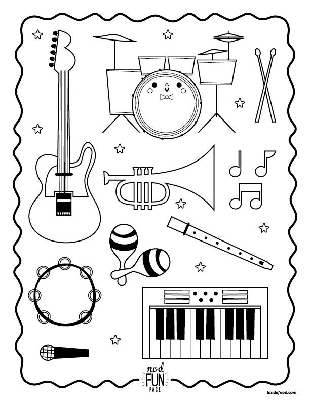 coloring musical instruments drawing musical instrument drawing at getdrawings free download drawing musical coloring instruments