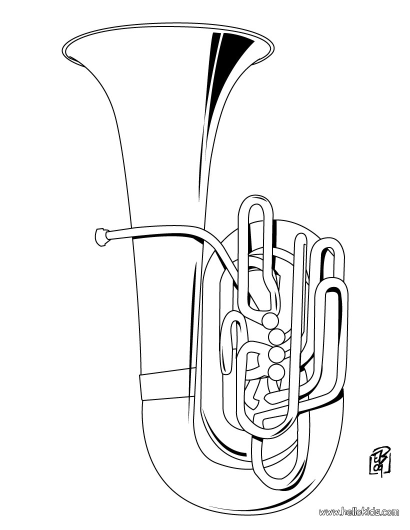 coloring musical instruments music instrument coloring page getcoloringpagescom coloring instruments musical