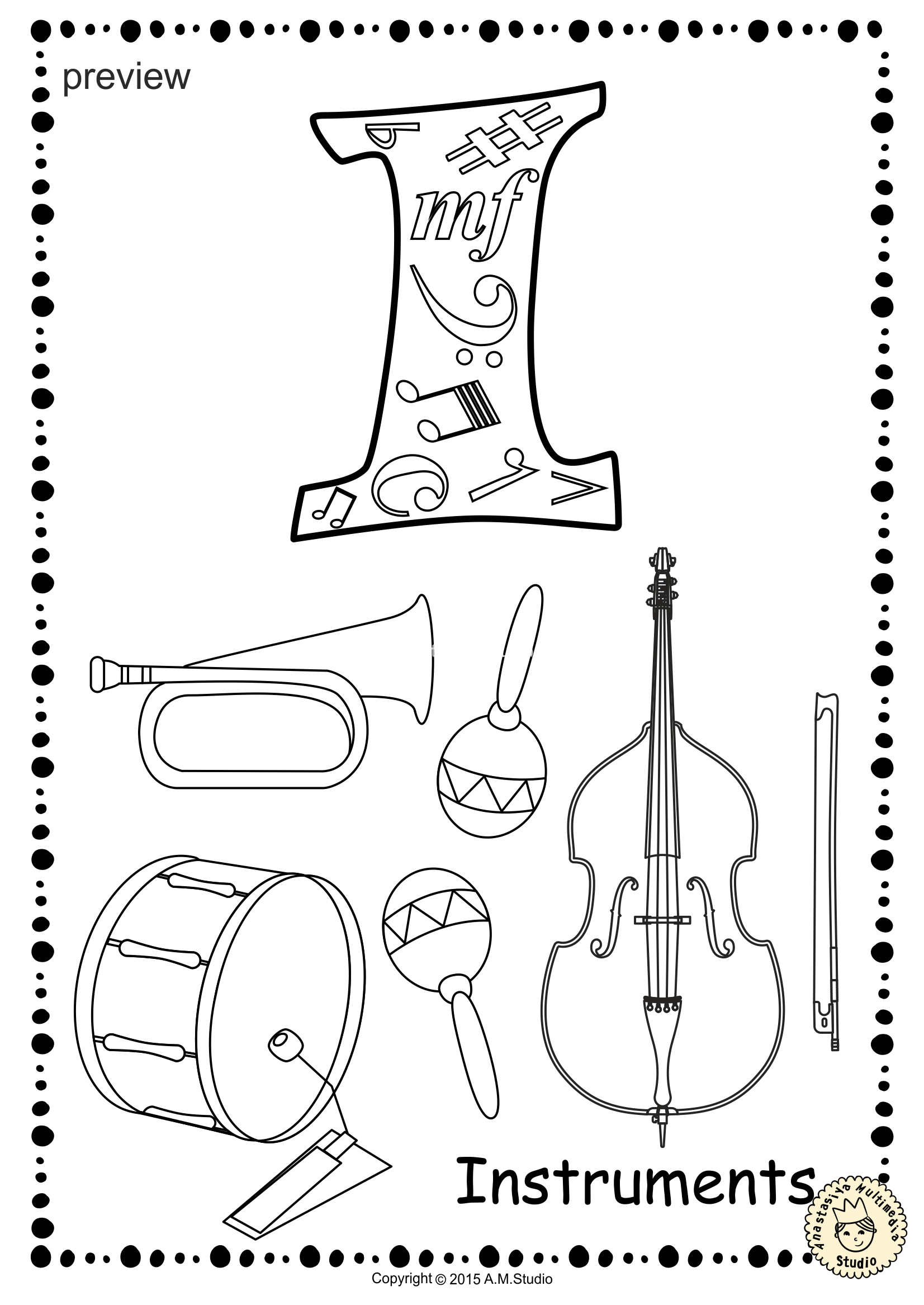 coloring musical instruments music instrument coloring pages coloring pages musical coloring instruments