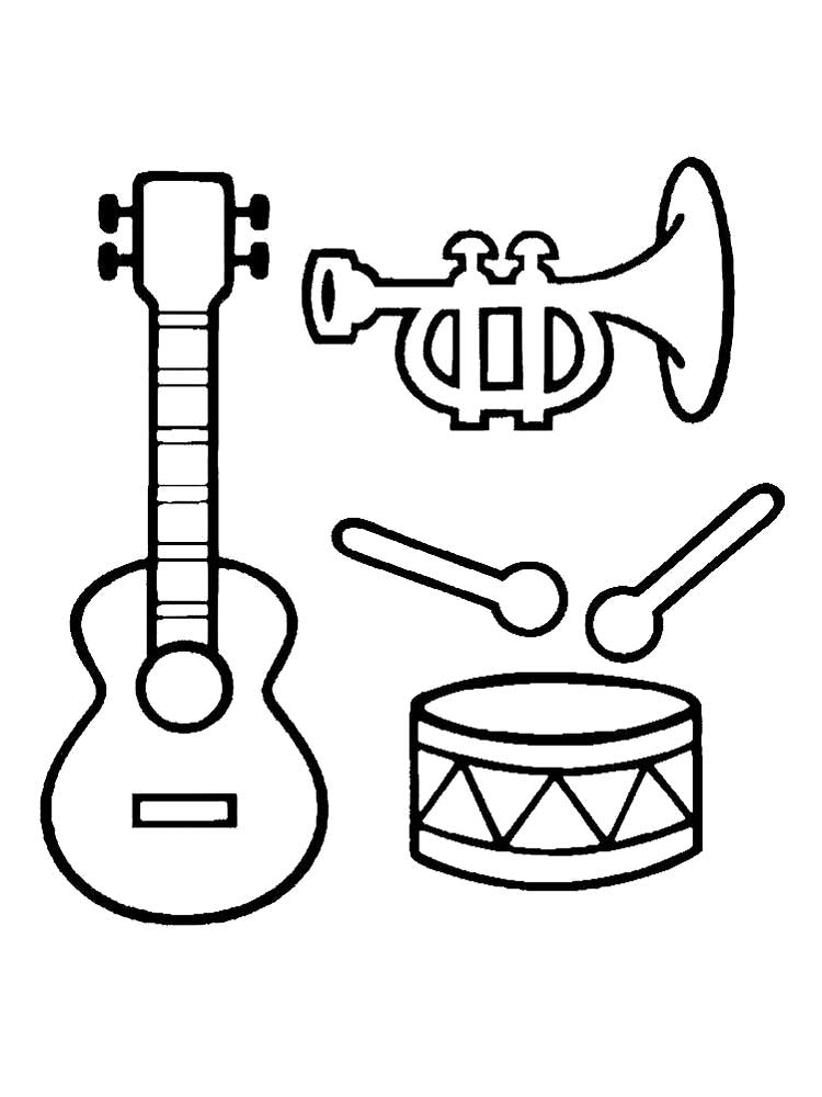 coloring musical instruments musical instrument coloring pages download and print musical instruments coloring 1 1