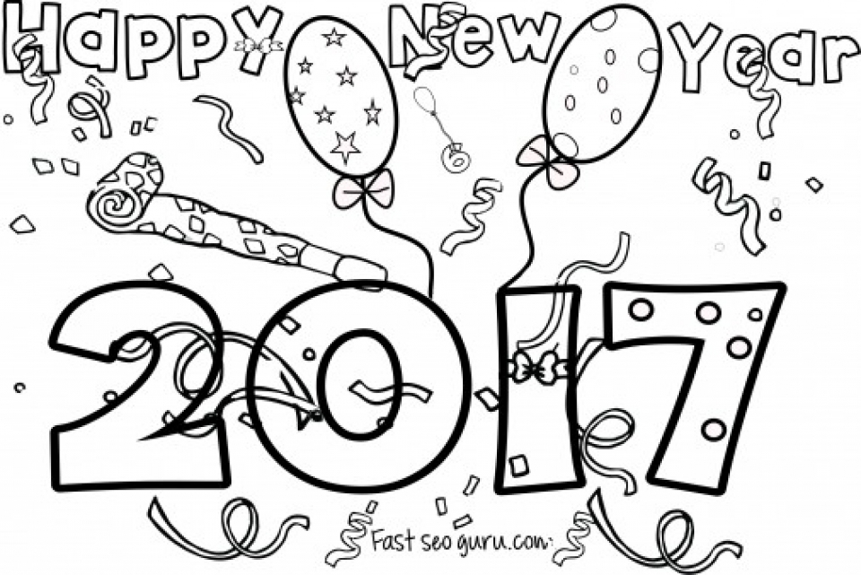 coloring new year 20 free printable new years coloring pages coloring new year