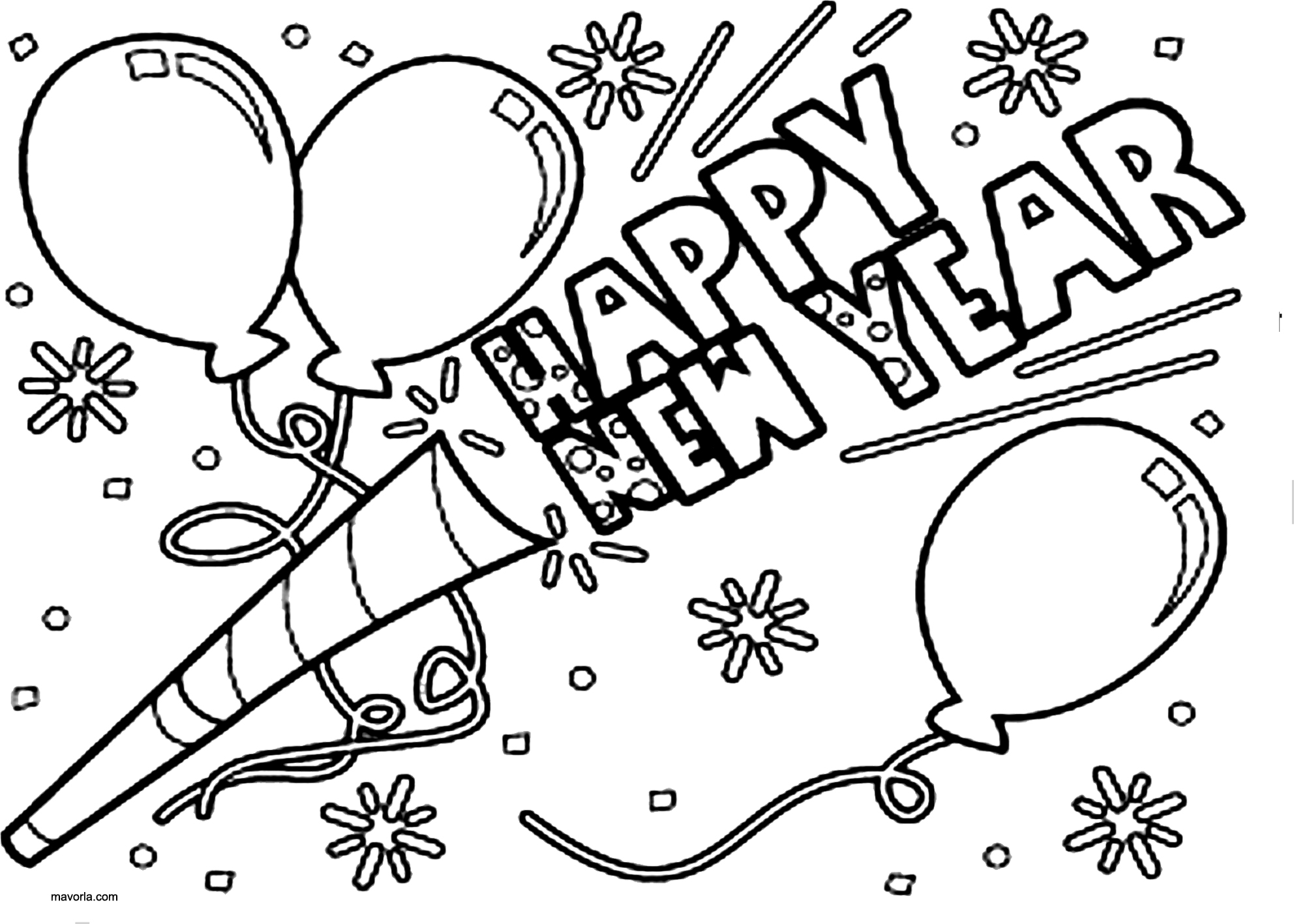 coloring new year free printable happy new year coloring pages funsoke coloring new year