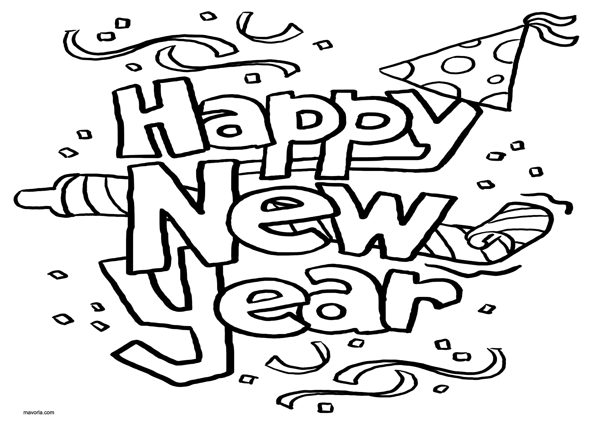 coloring new year free printable happy new year coloring pages funsoke year coloring new
