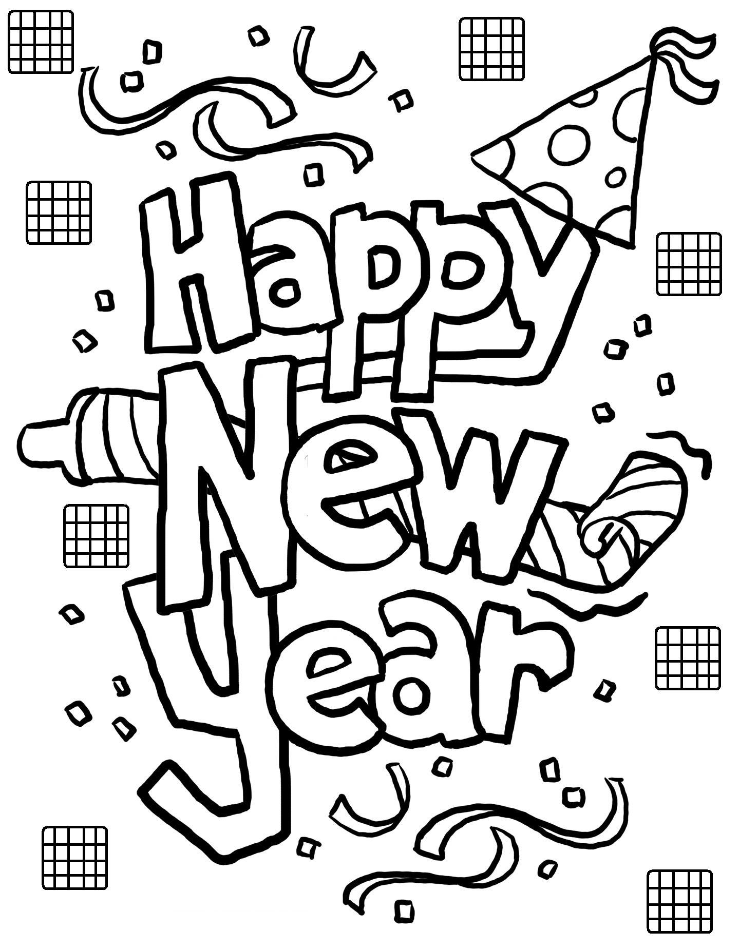 coloring new year free printable new years coloring pages for kids year new coloring