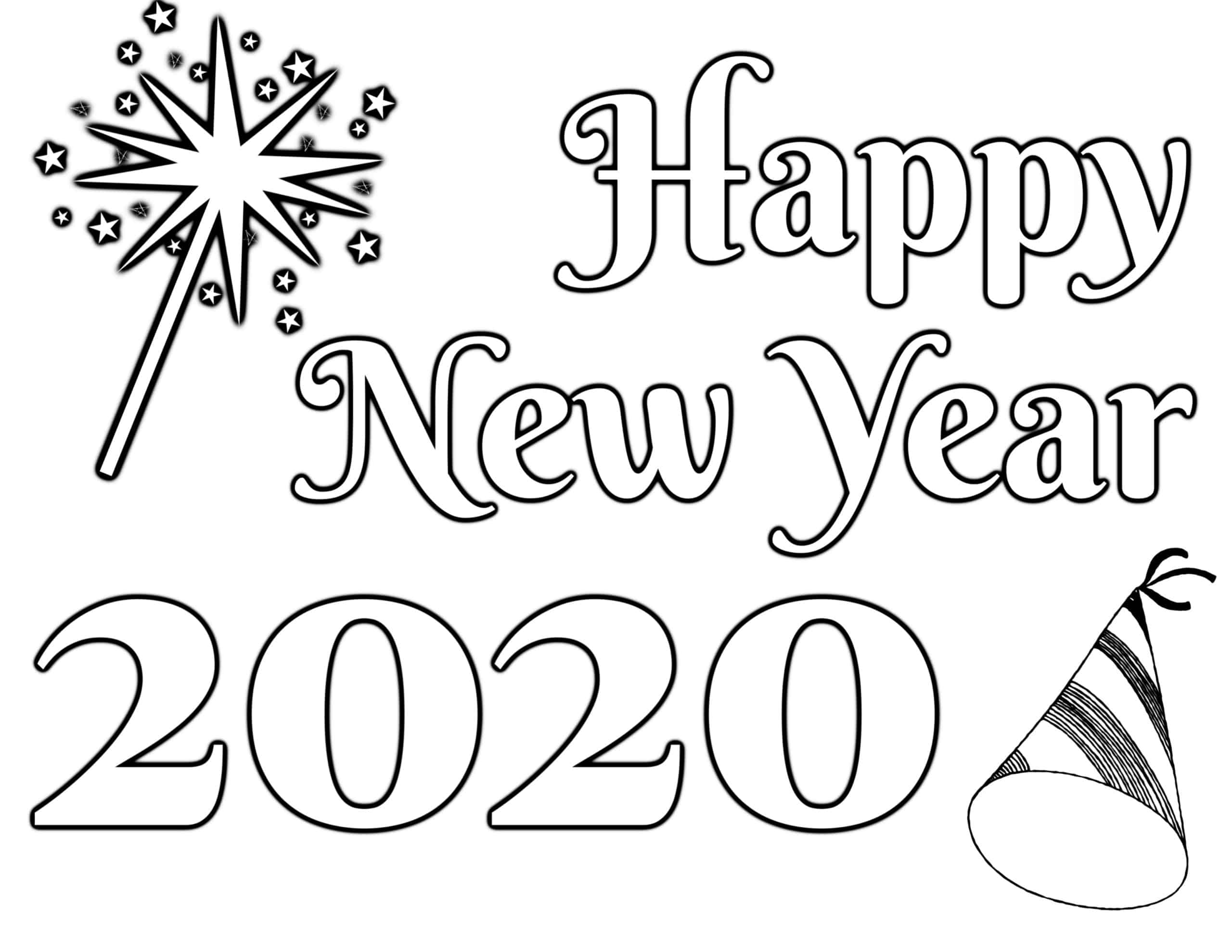 coloring new year happy new year 2020 coloring pages coloring home year coloring new