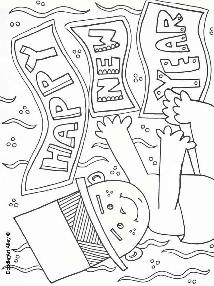 coloring new year happy new year coloring pages free printable happy new year coloring new