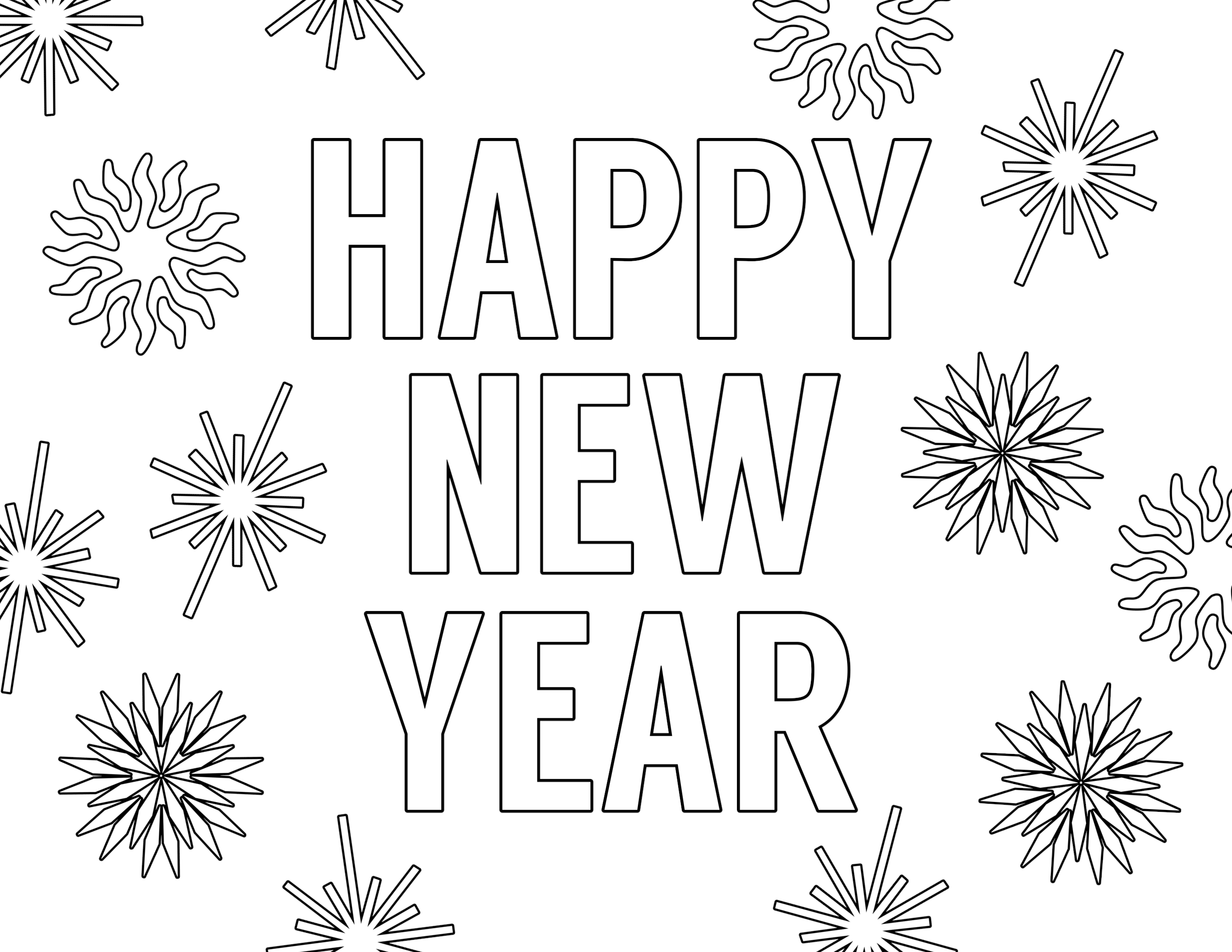 coloring new year happy new year coloring pages free printable paper trail coloring year new