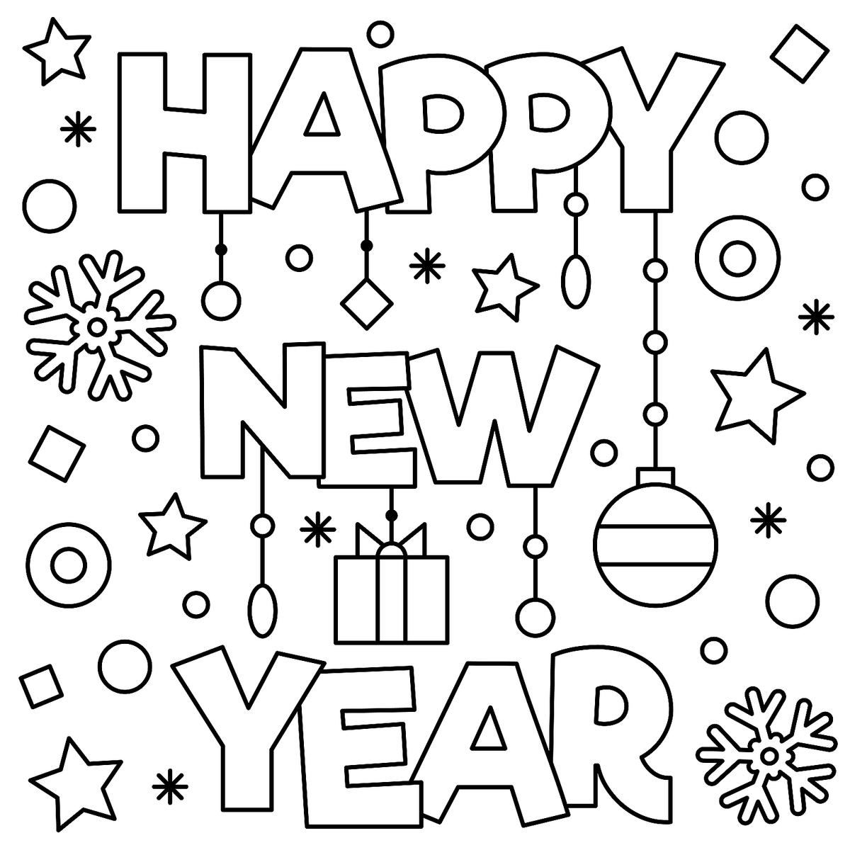 coloring new year new year coloring pages 2021 free printable coloring coloring new year
