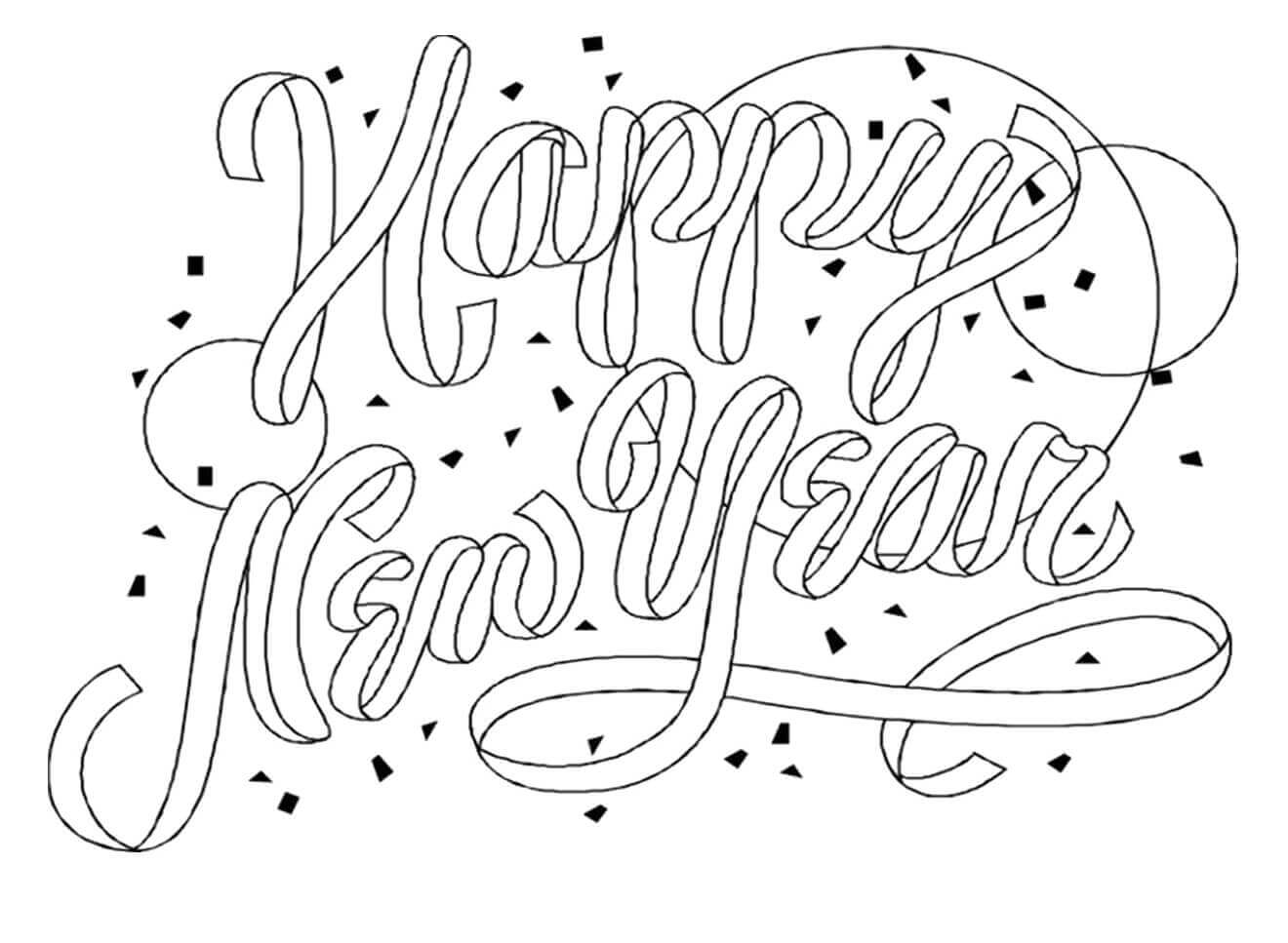 coloring new year printable new year coloring pages new coloring year