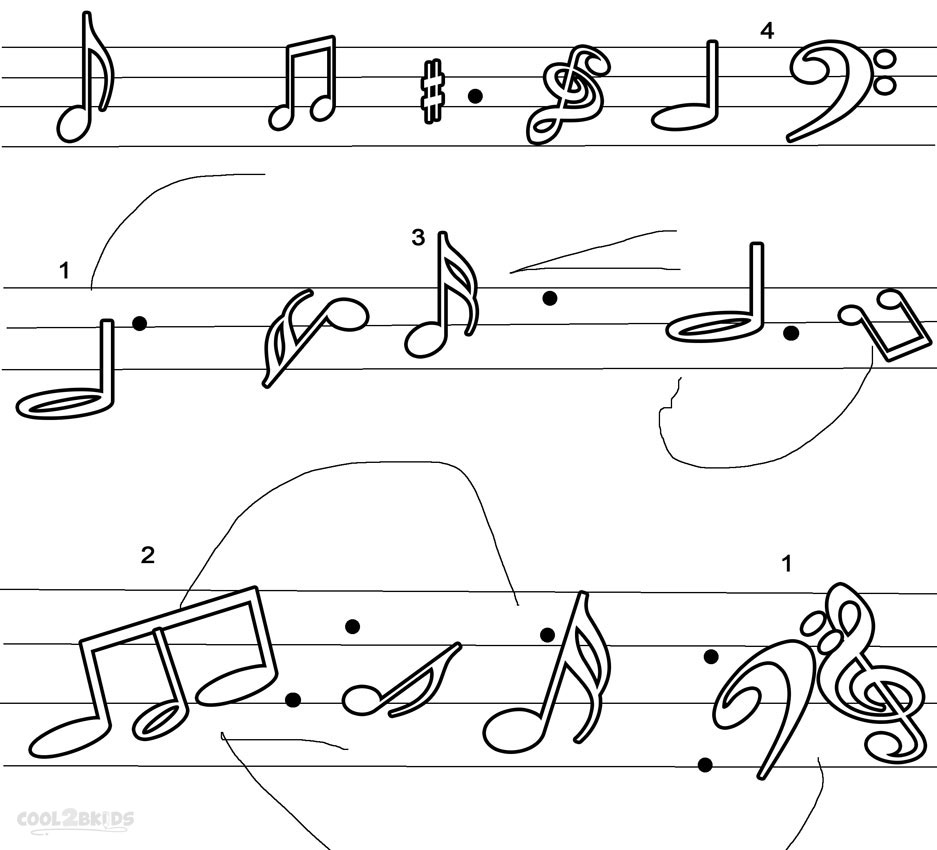 coloring notes music note coloring pages free download on clipartmag coloring notes