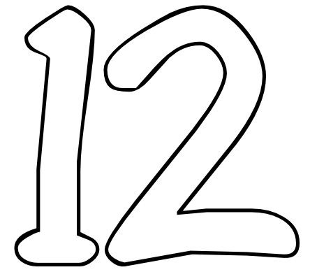 coloring number 12 12 number and things coloring page number 12 coloring