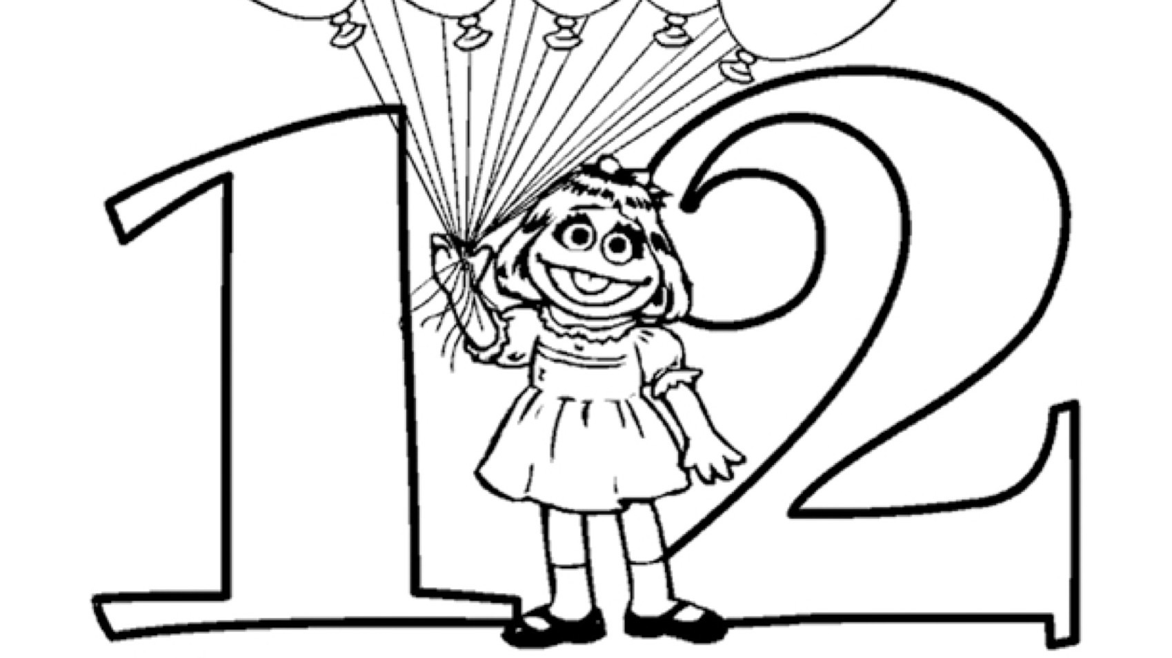 coloring number 12 number 12 for coloring page coloring pages for kids 12 coloring number