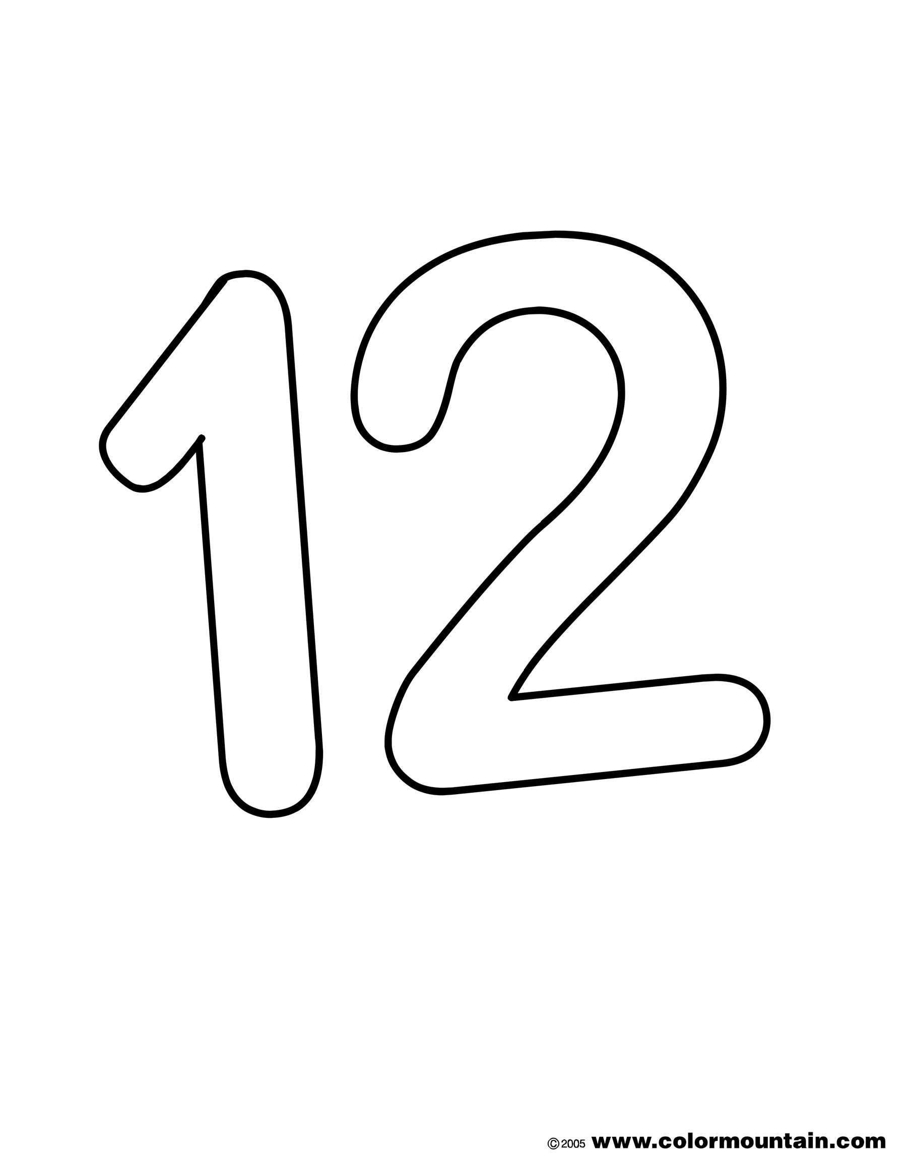 coloring number 12 number twelve coloring sheet create a printout or activity coloring number 12