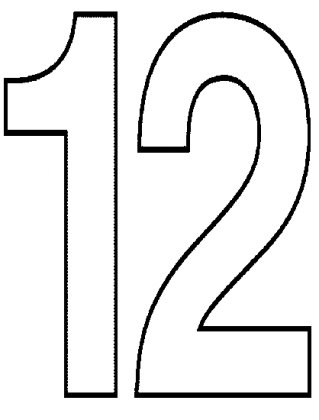 coloring number 12 the number 12 coloring page kids coloring pbs kids coloring 12 number
