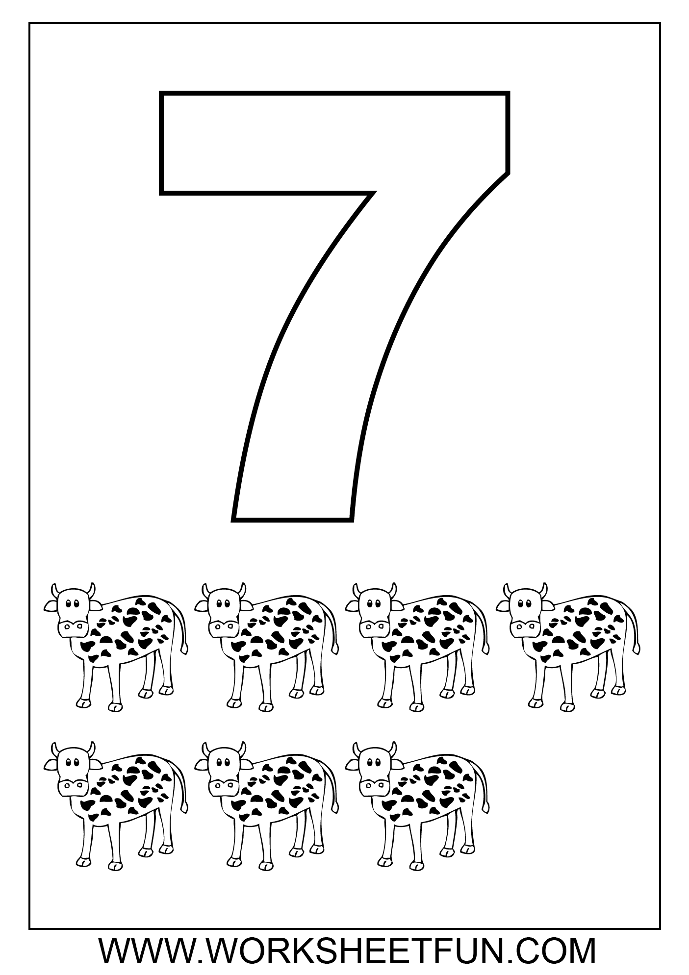 coloring number 7 worksheets craftsactvities and worksheets for preschooltoddler and number 7 coloring worksheets