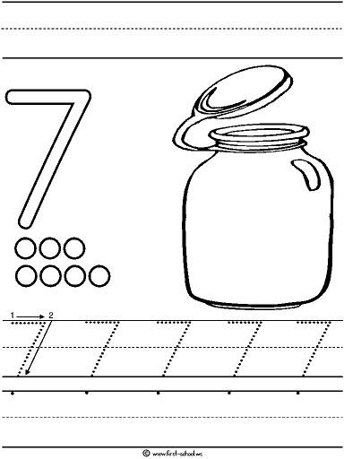coloring number 7 worksheets number 7 coloring page getcoloringpagescom worksheets number coloring 7