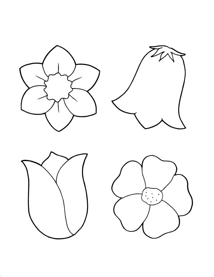coloring outline images of flowers cartoon flower outline clipground coloring of outline images flowers